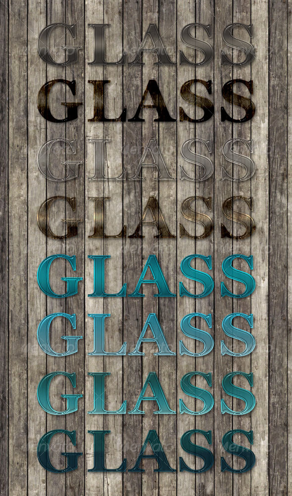 GraphicRiver 8 Professional Glass Text Styles 91709