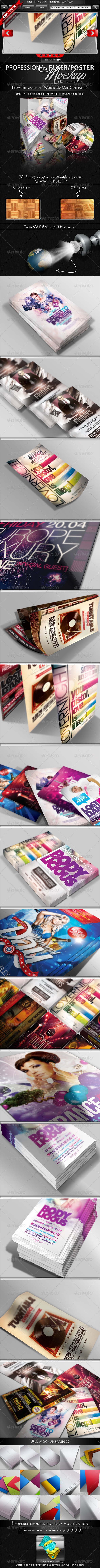 GraphicRiver Flyer & Poster Mockup Bundle 1-3 2510653