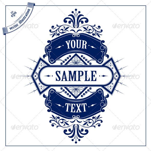 GraphicRiver Vintage Emblem Ribbon 2512041