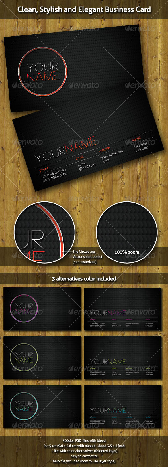 Clean, Stylish and Elegant Business Card - Business Cards Print Templates