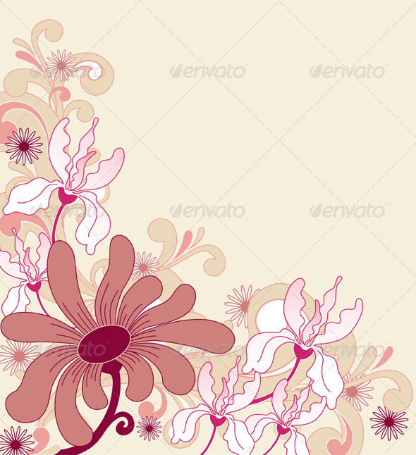 Background with Flowers - Flowers &amp; Plants Nature