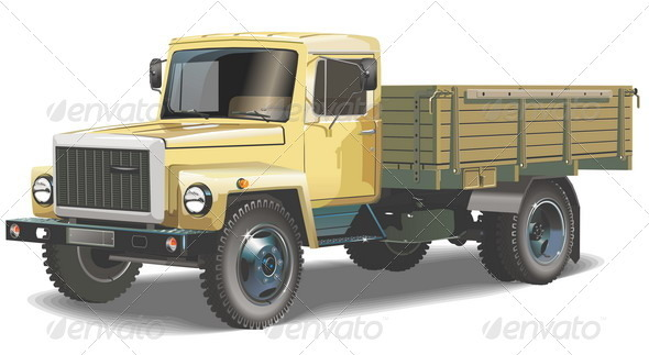 Flatbed Truck - Man-made objects Objects