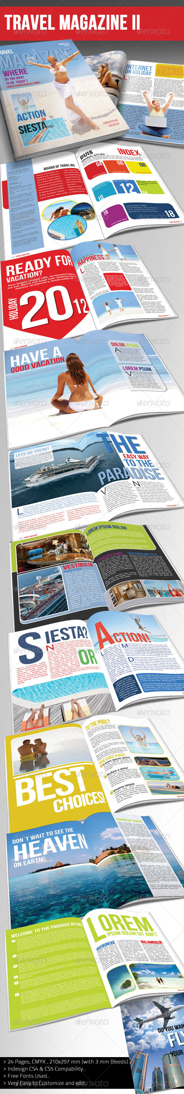 Travel Magazine Template Ver.II - Magazines Print Templates