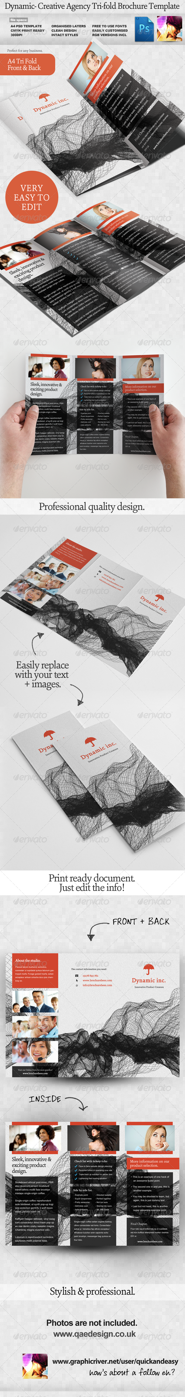 corporate tri fold brochure template .