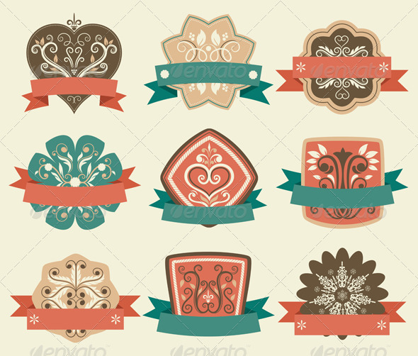 Retro Vintage Labels - Decorative Vectors