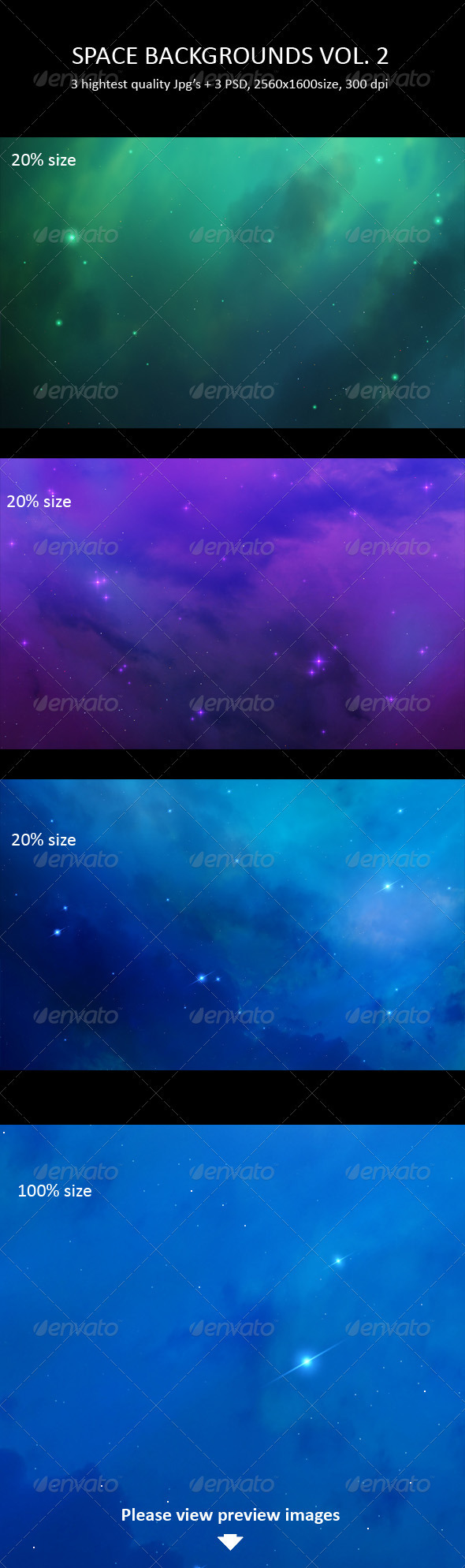 Space Backgrounds Vol. 2 - Backgrounds Graphics