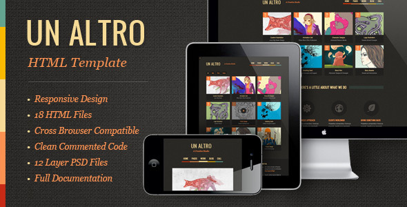Un Altro | Modern Responsive HTML Template