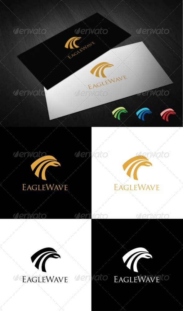 Eagle Wave - Crests Logo Templates