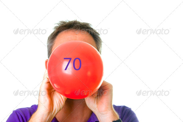 Happy  70th   birthday - Stock Photo - Images