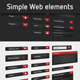 Simple Web Elements - GraphicRiver Item for Sale