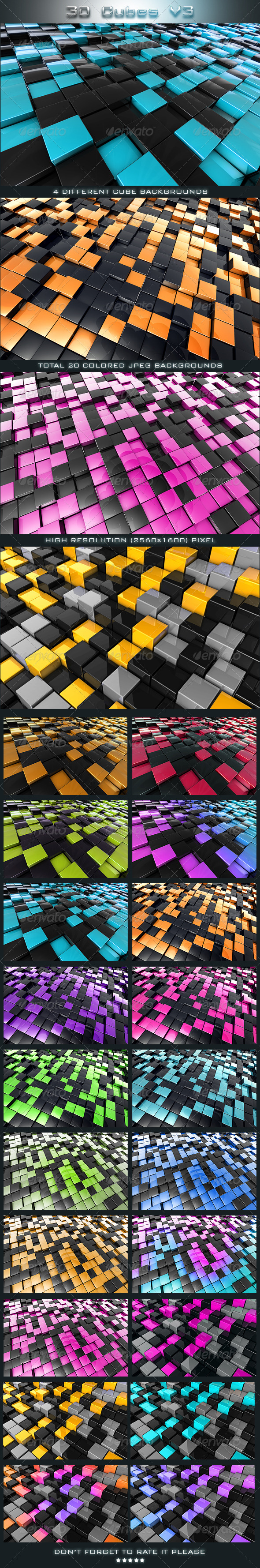 3D Cubes V3 - 3D Backgrounds