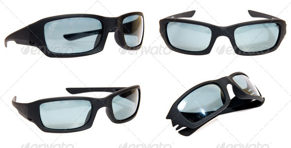 Sun glasses isolated on white - Stock Photo - Images