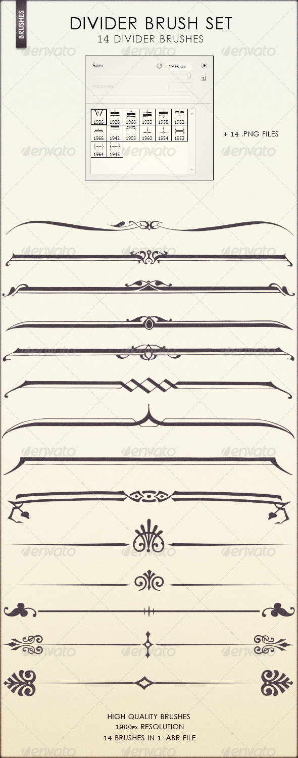 Divider Brush Set - Flourishes Brushes