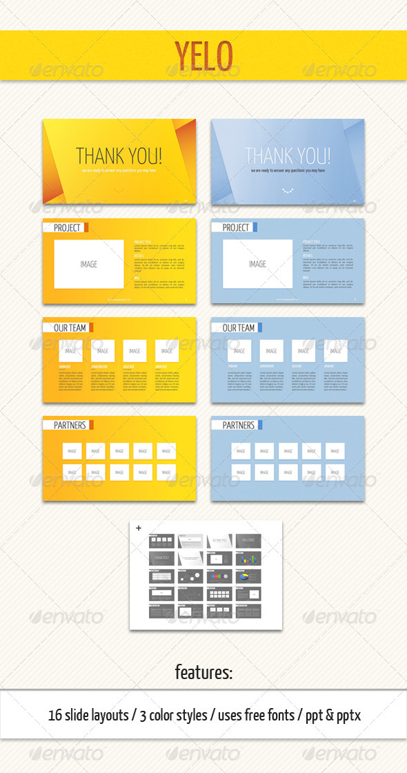 YELO - PowerPoint Theme - Business Powerpoint Templates