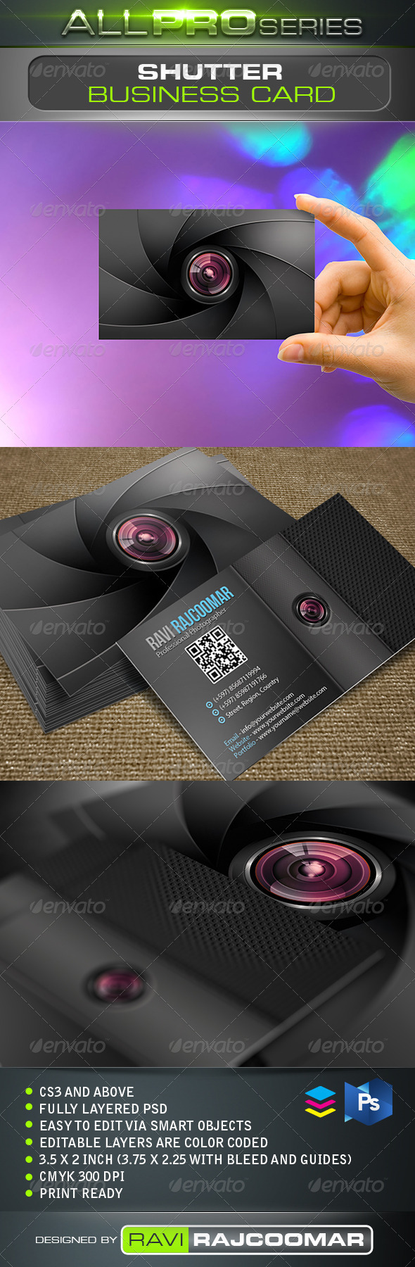 Shutter Business Card - Creative Business Cards
