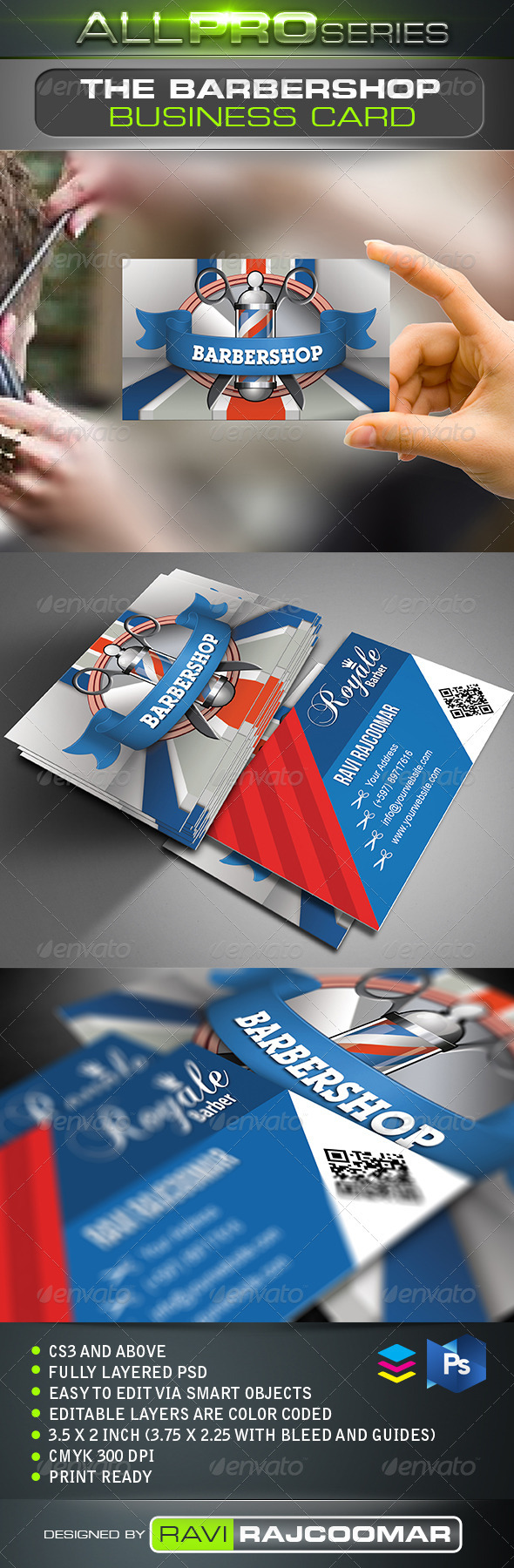 The Barbershop Business Card - Creative Business Cards