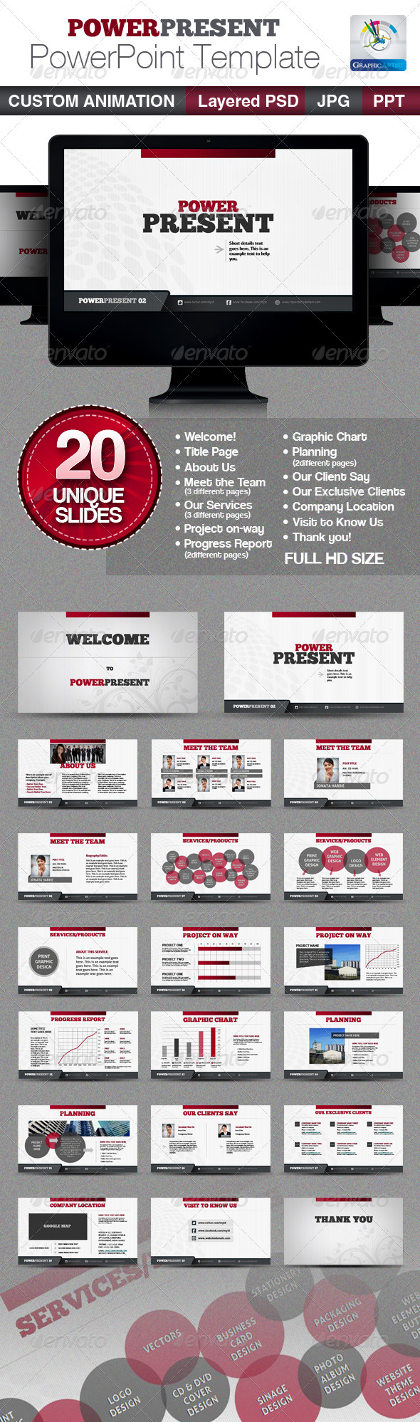 PowerPresent PowerPoint Templates GraphicRiver - Presentation Templates -  Powerpoint Templates 2524562