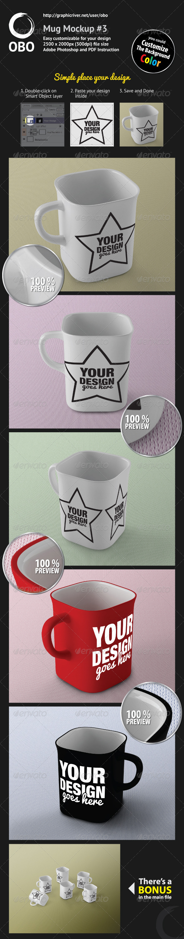 Mug Mockup #3 - Food and Drink Packaging