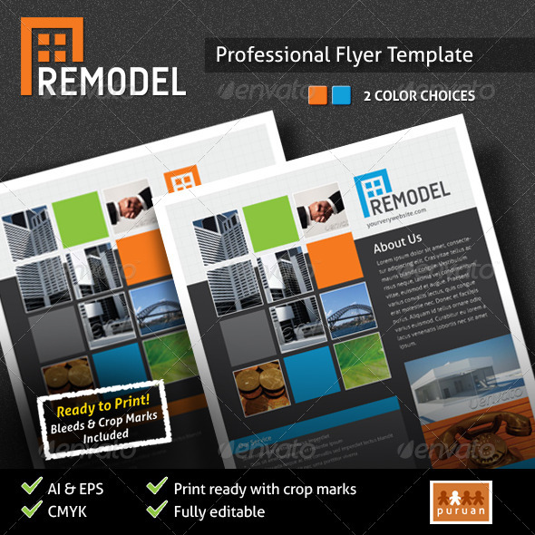 Remodel Flyer Template - Corporate Flyers