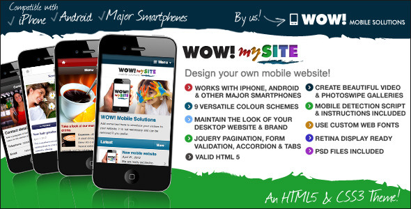 WOW! mySite HTML5 & CSS3 mobile theme
