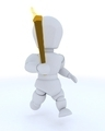 man running with olympic torch - PhotoDune Item for Sale
