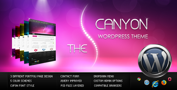The Canyon WordPress Theme - This is my preview.