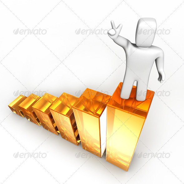 To top of success - Stock Photo - Images