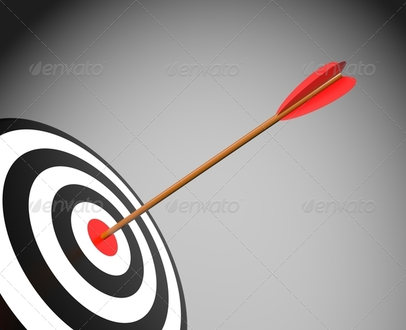Target with arrow - Stock Photo - Images