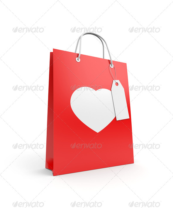 Bag for Valentine's day - Stock Photo - Images
