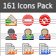 161 Mini Icons Pack - GraphicRiver Item for Sale