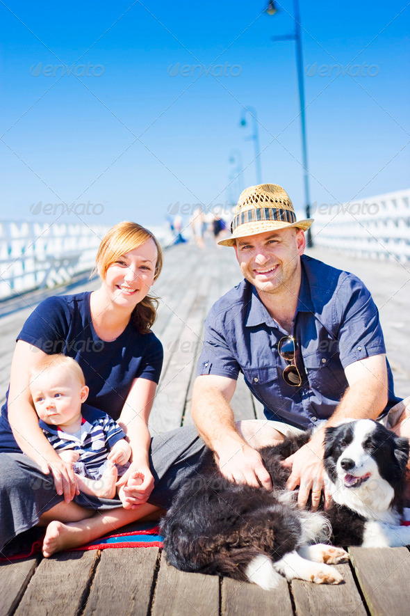 Happy Healthy Young Family - Stock Photo - Images