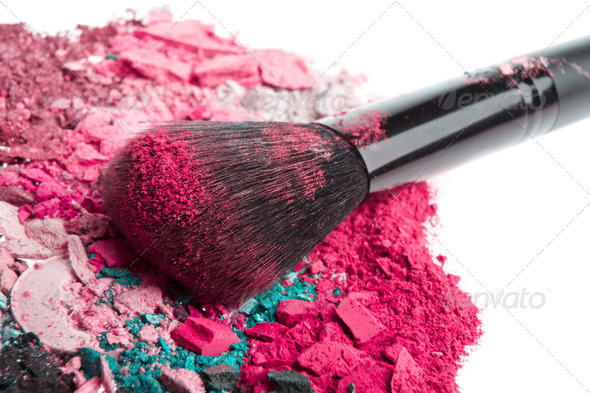 set of crushed eyeshadows - Stock Photo - Images