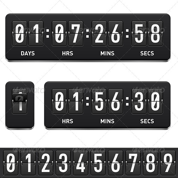 Countdown timer - Objects Vectors