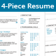 4-Piece Clean Resume Set - GraphicRiver Item for Sale