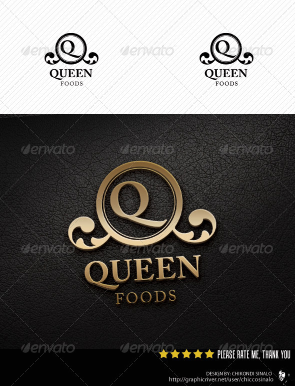Queen Foods Logo Template - Food Logo Templates