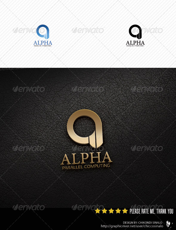 Alpha Parallel Computing - Abstract Logo Templates