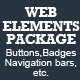 Web Elements Package  - GraphicRiver Item for Sale