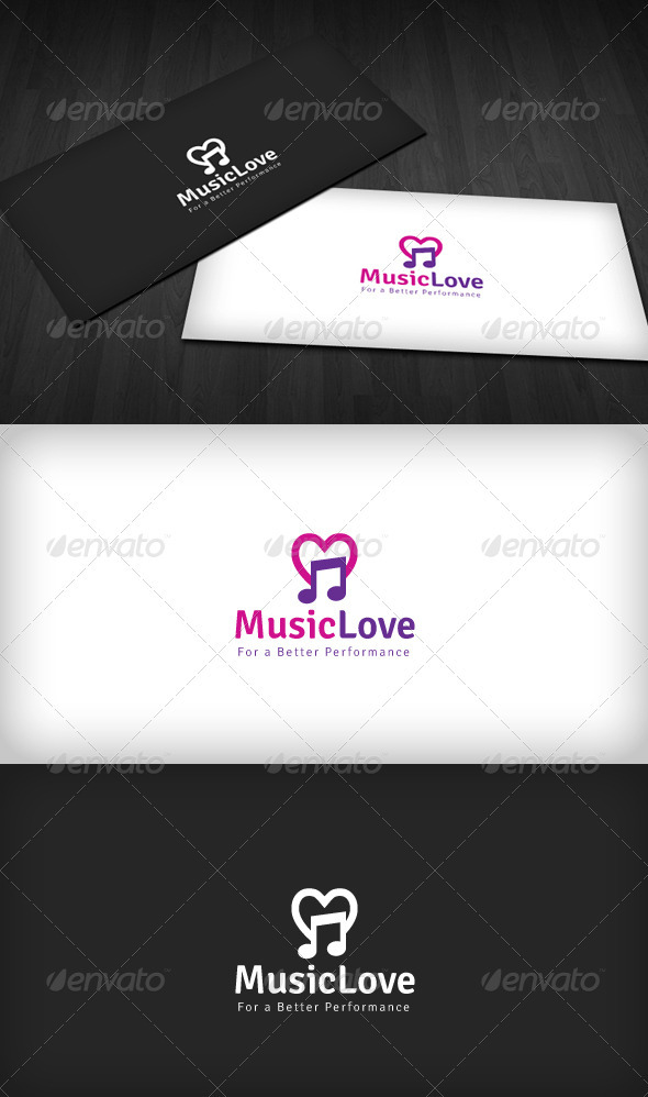 Music Love Logo - Symbols Logo Templates