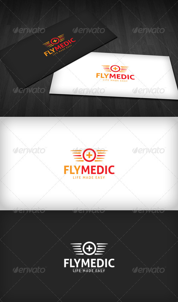 Fly Medic Logo - Vector Abstract
