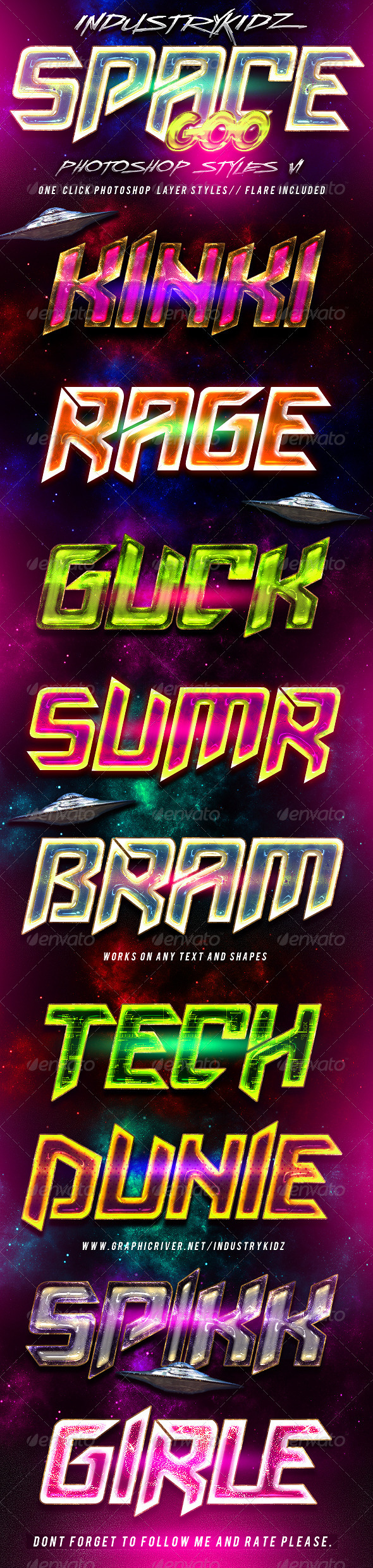 Space Goo Photoshop Styles V1 - Text Effects Styles