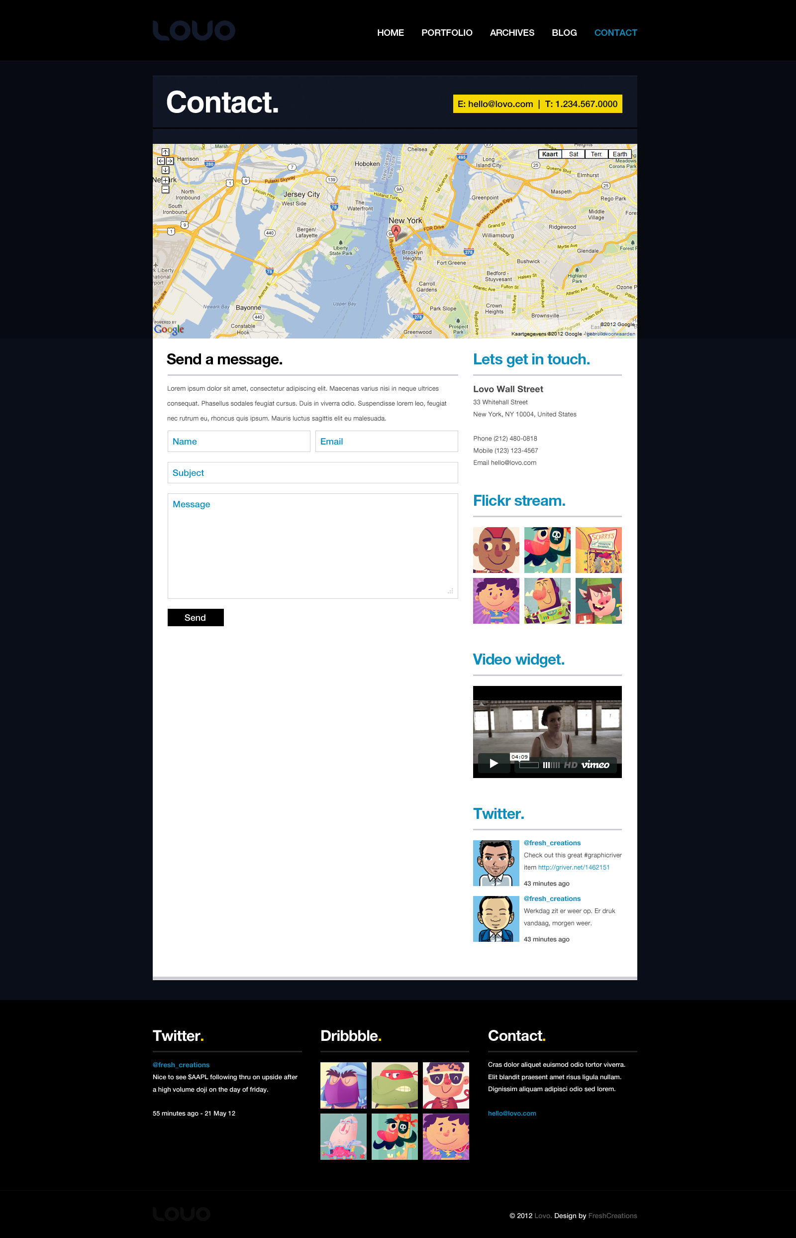 Lovo Portfolio and Blog Theme