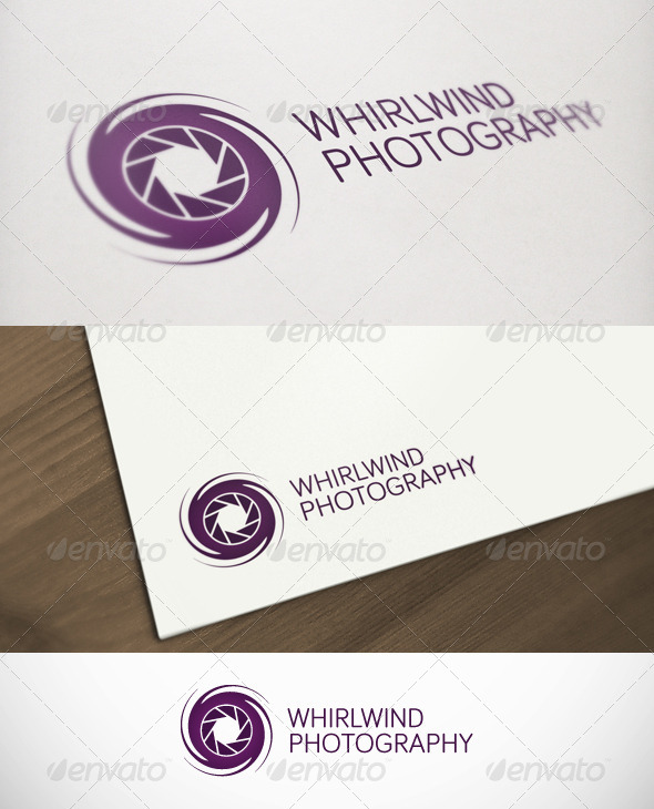 Whirlwind Photography Premium Logo - Objects Logo Templates