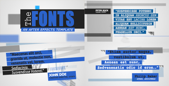 After Effects Project - VideoHive The Fonts 2533520