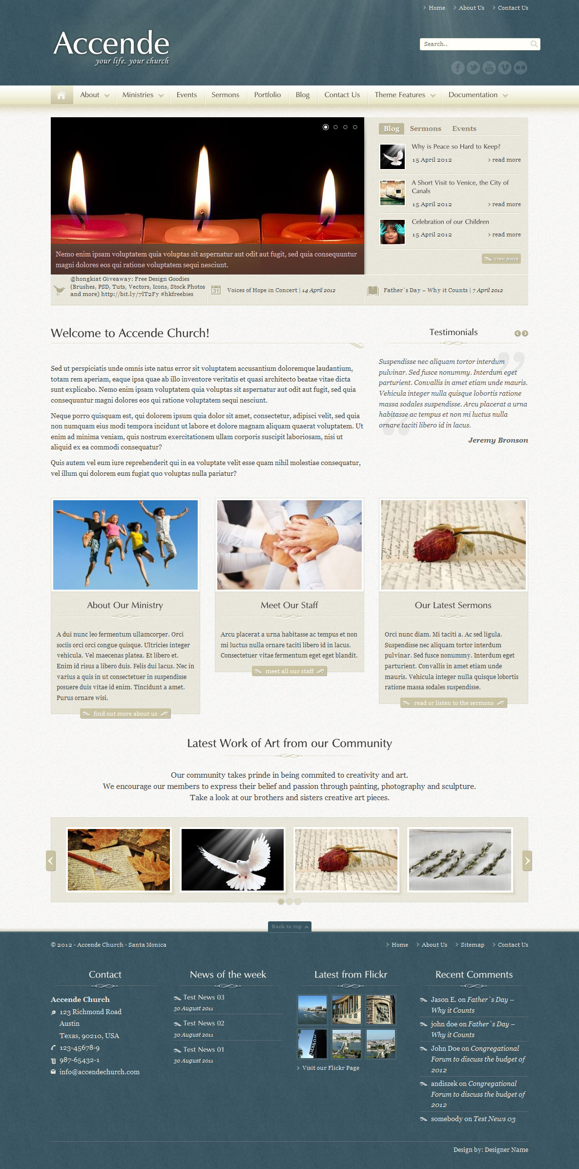 Accende - WordPress Church Theme