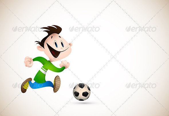 Little Boy PLaying Football - Sports/Activity Conceptual