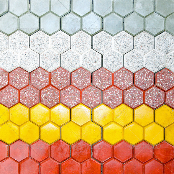 Hexagonal bricks - Stock Photo - Images