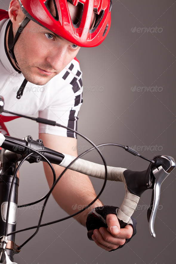 cyclist on a bicycle - Stock Photo - Images