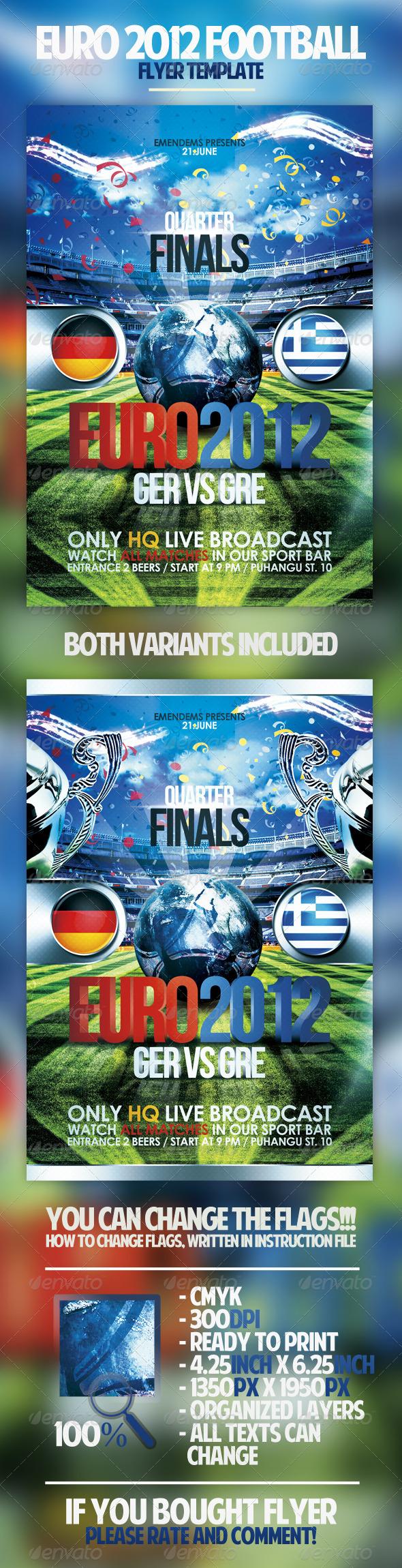 GraphicRiver Euro 2012 Football Flyer 2535268