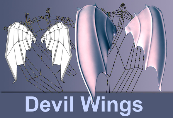3DOcean Devil Wings 2535551