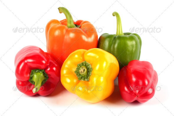 Fresh  sweet peppers - Stock Photo - Images
